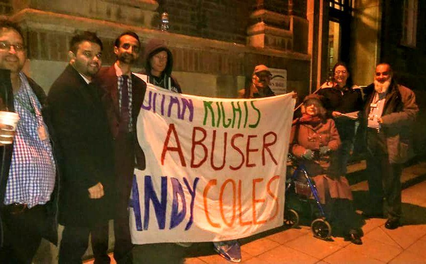 Andy Coles protest 24 January 2018