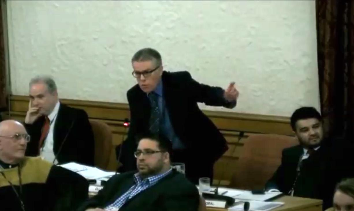 Councillor Richard Ferris complains, 7 March 2018